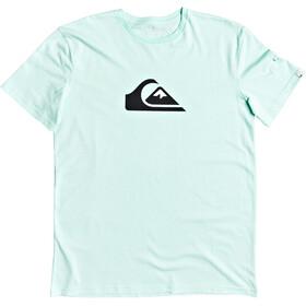 Quiksilver Comp Logo Camiseta Manga Corta Hombre, Turquesa